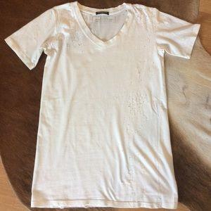 Balmain Distressed t-shirt in size:38